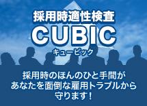 採用時適正検査CUBIC(キュービック) 採用時のほんのひと手間があなたを面倒な雇用トラブルから守ります!